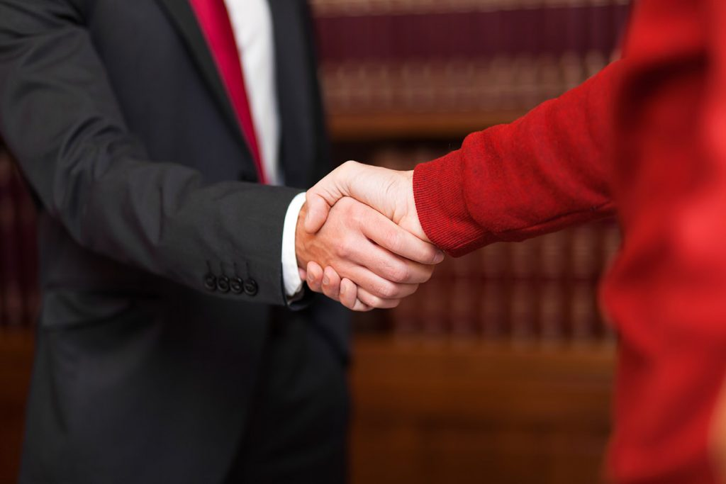 Disability Attorney Shaking Hands