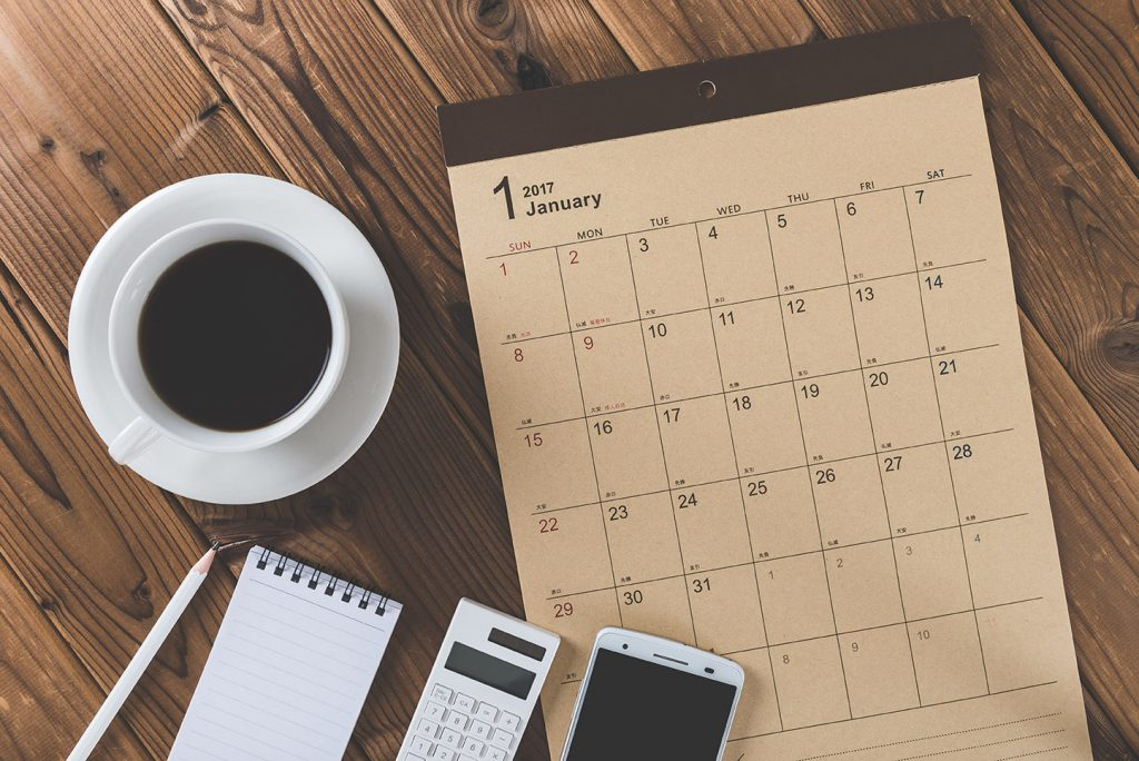 Calendar for Planning Social Security Disability Appeal